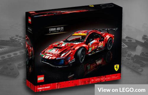 Lego Technic Ferrari 488 GTE Set